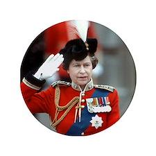 "HM Queen Elizabeth II Trooping 3.5"" Button"