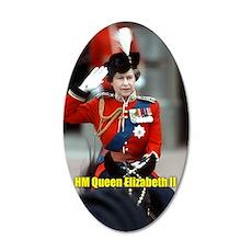 HM Queen Elizabeth II Trooping Wall Sticker