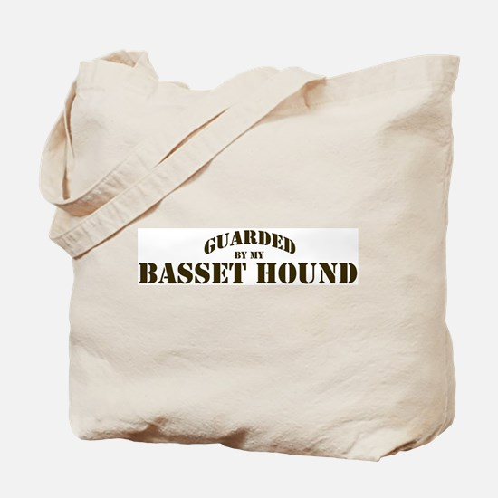 Basset Hound: Guarded by Tote Bag