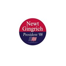 """""""Newt Gingrich for President"""" Mini Button (100)"""