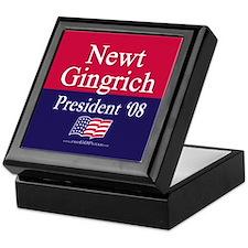 """""""Newt Gingrich for President"""" Keepsake Box"""