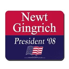 """Newt Gingrich for President"" Mousepad"