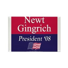 """""""Newt Gingrich 2008"""" Rectangle Magnet (10)"""