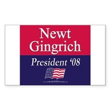 """Newt Gingrich for President"" Sticker (Rect)"