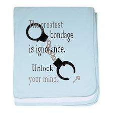 Unlock Your Mind baby blanket