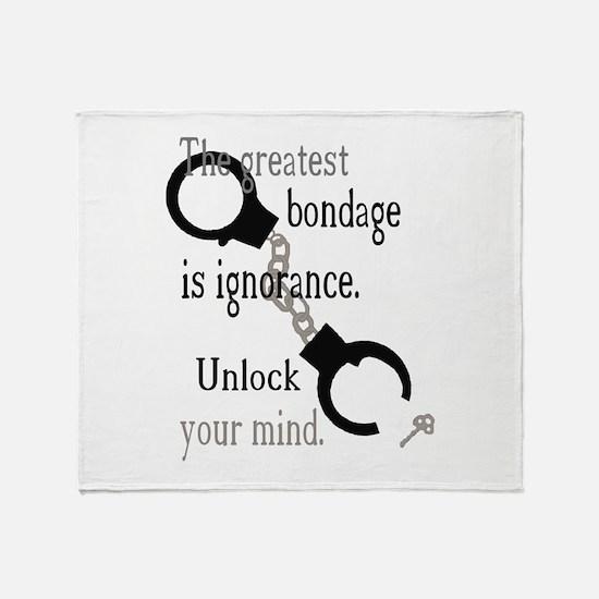 Unlock Your Mind Throw Blanket