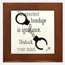 Unlock Your Mind Framed Tile