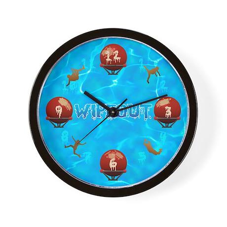 Wipeout Wall Clock