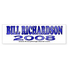 Bill Richardson Fireworks Bumper Car Sticker