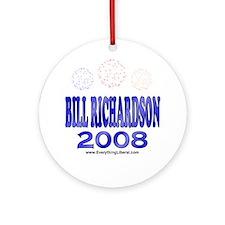 Bill Richardson Fireworks Ornament (Round)