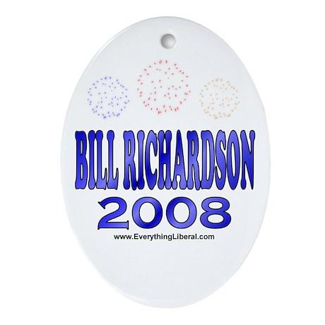 Bill Richardson Fireworks Oval Ornament
