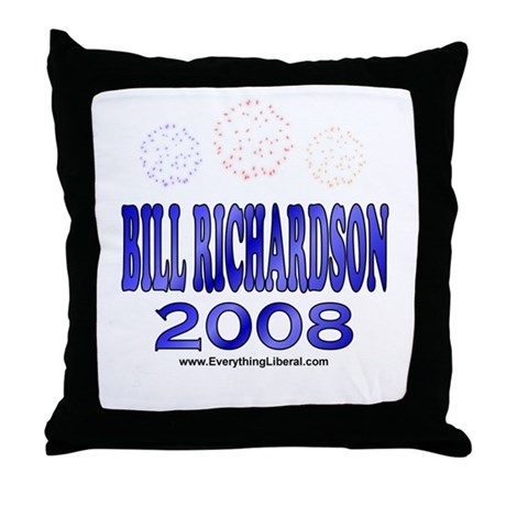 Bill Richardson Fireworks Throw Pillow