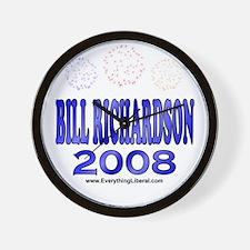 Bill Richardson Fireworks Wall Clock