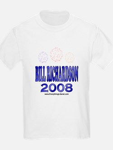 Bill Richardson Fireworks Kids T-Shirt