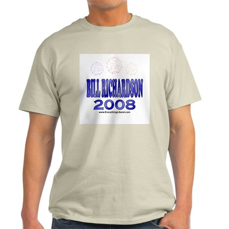 Bill Richardson Fireworks Ash Grey T-Shirt