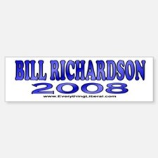 Bill Richardson Fireworks Bumper Bumper Bumper Sticker