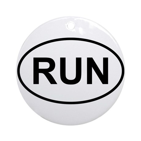 Run Runner Running Track Oval Ornament (Round)