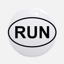 Run Runner Running Track Oval Ornament (Round)