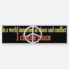 I Choose Peace Black Bumper Bumper Bumper Sticker