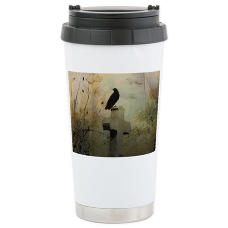 Gothic Perch Stainless Steel Travel Mug