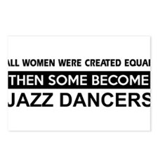 jazz dance designs Postcards (Package of 8)