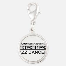 jazz dance designs Silver Round Charm