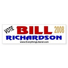 Bill Richardson 2008 Bumper Car Sticker