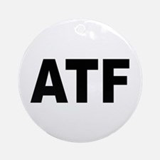 ATF Alcohol Tobacco & Firearms Ornament (Round)