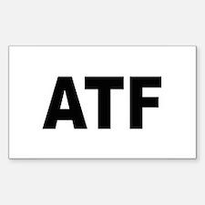 ATF Alcohol Tobacco & Firearms Sticker (Rectangula