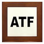 ATF Alcohol Tobacco & Firearms Framed Tile