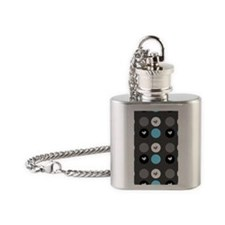 Polka dots Flask Necklace