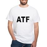 ATF Alcohol Tobacco & Firearms White T-Shirt