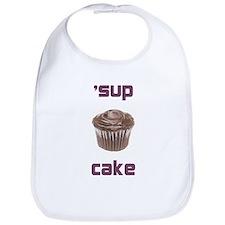 'sup cake baby bib