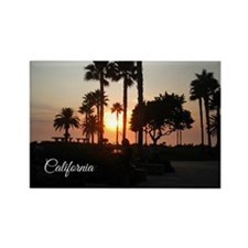 California Palm Sunset Magnets
