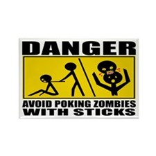 Zombie Warning Rectangle Magnet (10 pack)