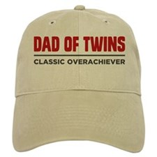 DAD OF TWINS Classic Overachiever Baseball Baseball Cap