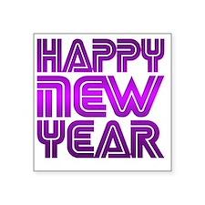 "Happy new Year Square Sticker 3"" x 3"""