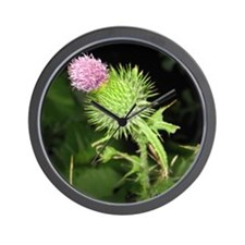 Purple Thistle Wall Clock