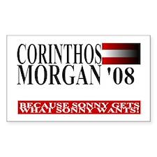 Sonny Corinthos for President Sticker (Rectangular