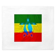 Rasta Flag Honu King Duvet