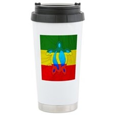 Rasta Flag Honu Travel Mug
