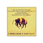 I Believe I Can Fly Square Sticker 3