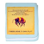 I Believe I Can Fly baby blanket
