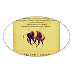 I Believe I Can Fly Sticker (Oval 50 pk)