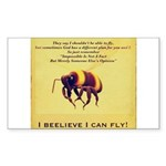 I Believe I Can Fly Sticker (Rectangle)
