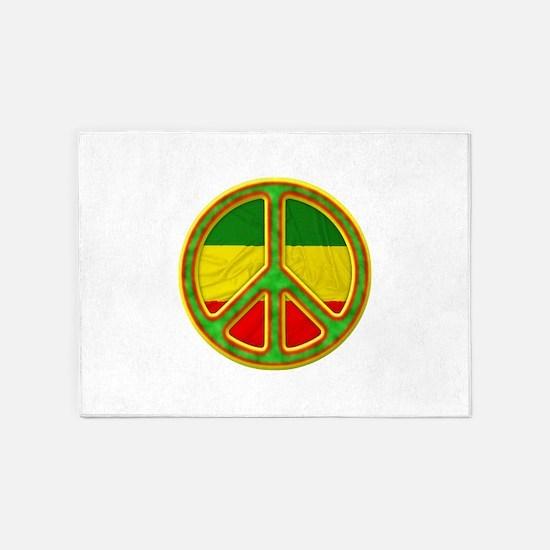 Rasta Peace 5'x7'Area Rug