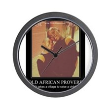 Old African Proverb Wall Clock