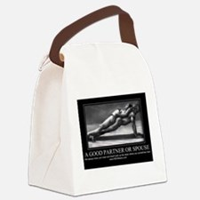 A good partner or spouse Canvas Lunch Bag