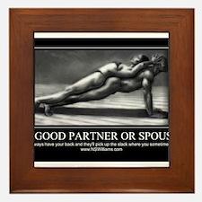 A good partner or spouse Framed Tile