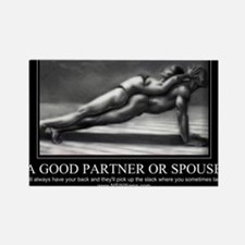 A good partner or spouse Rectangle Magnet